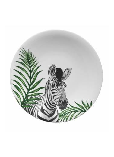Kütahya Porselen Doğadakiler 27 cm Servis Tabağı Zebra Renkli